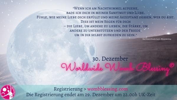Weltweite Gebärmuttersegnung im Dezember – im Online Kreis